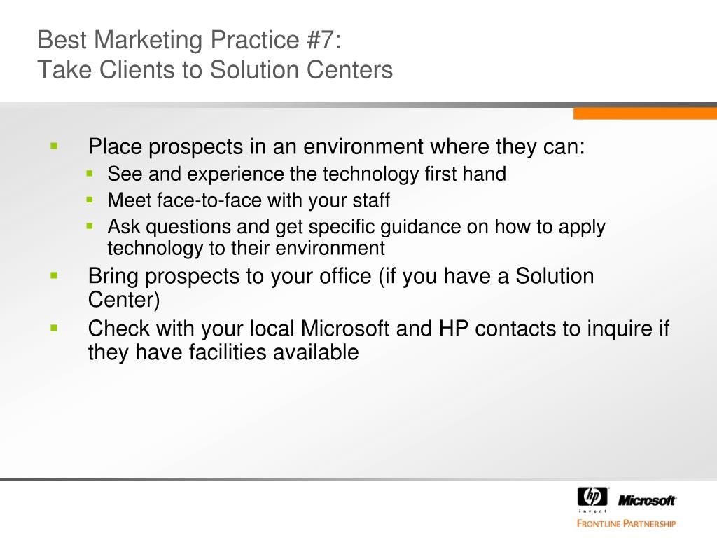 Best Marketing Practice #7: