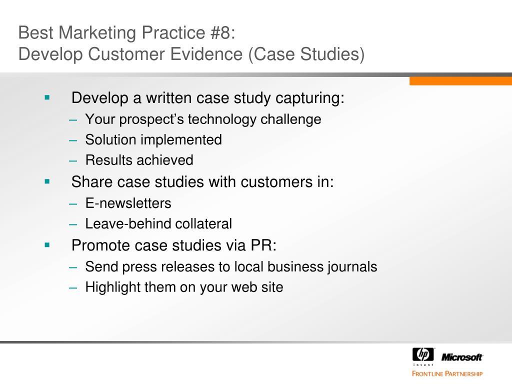 Best Marketing Practice #8: