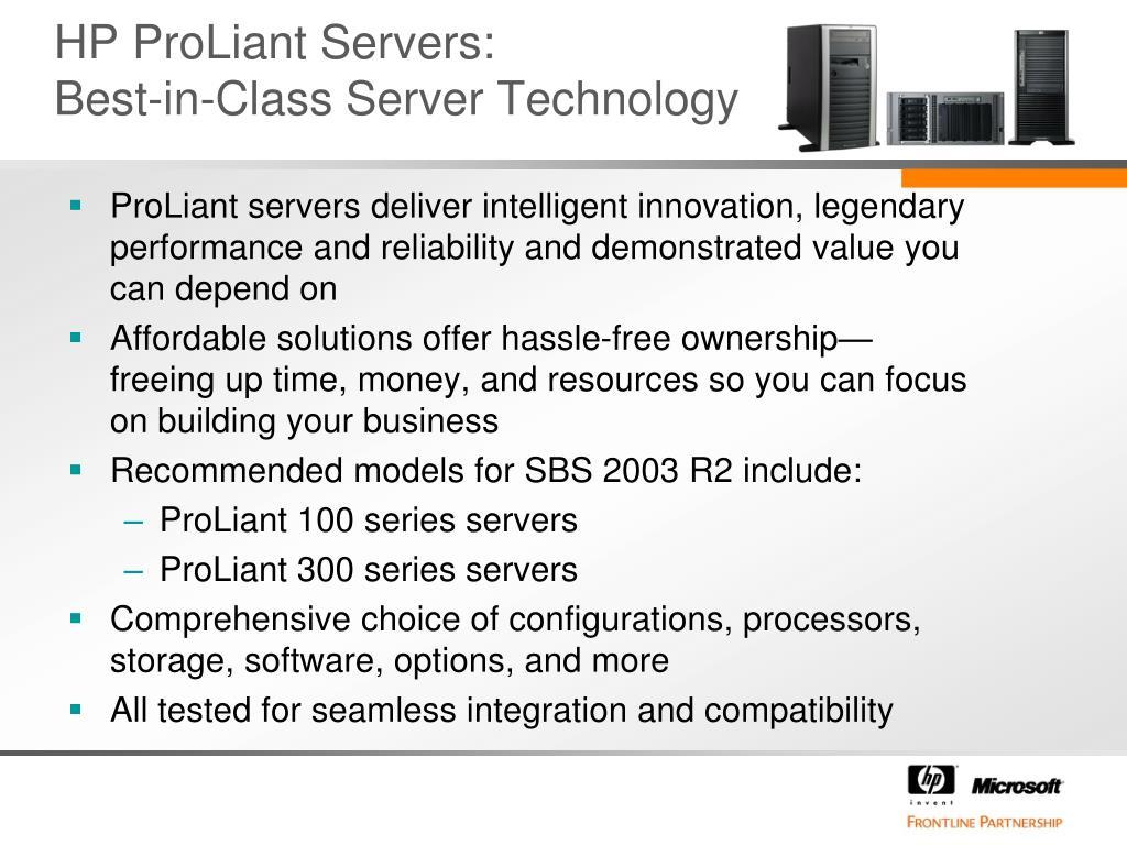 HP ProLiant Servers: