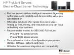 hp proliant servers best in class server technology