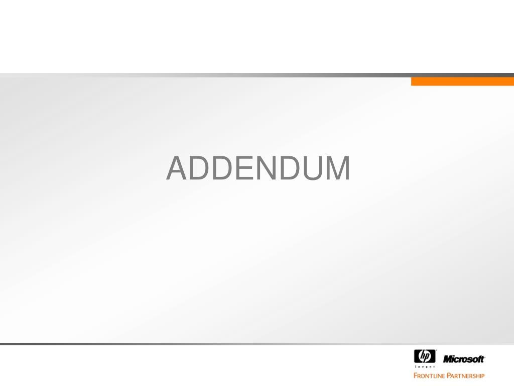 ADDENDUM