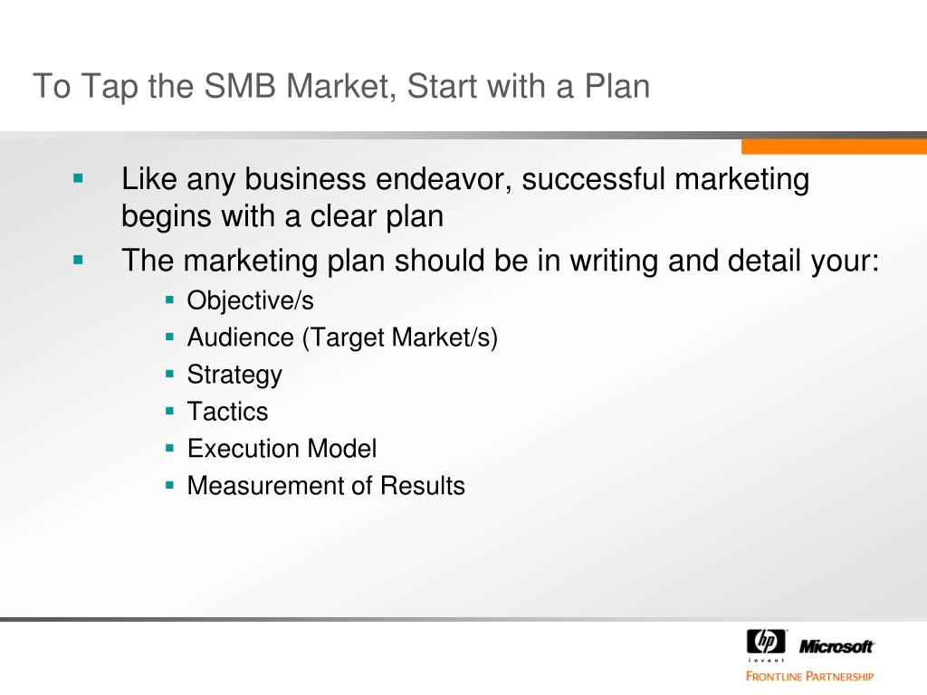 To Tap the SMB Market, Start with a Plan