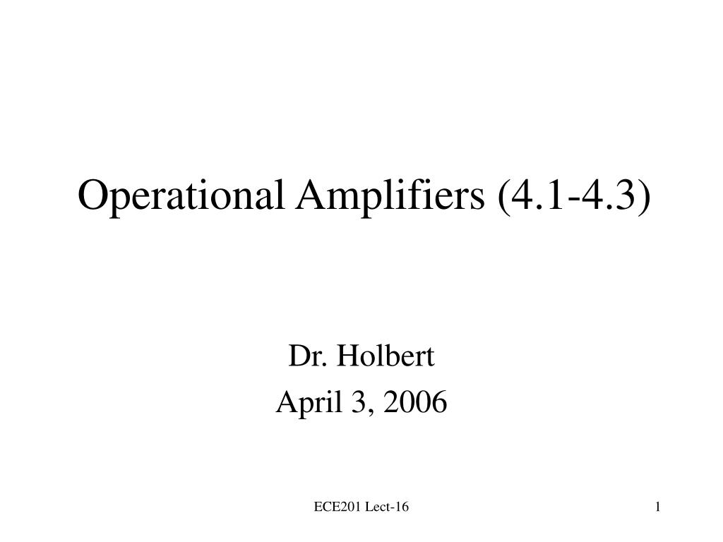 operational amplifiers 4 1 4 3 l.