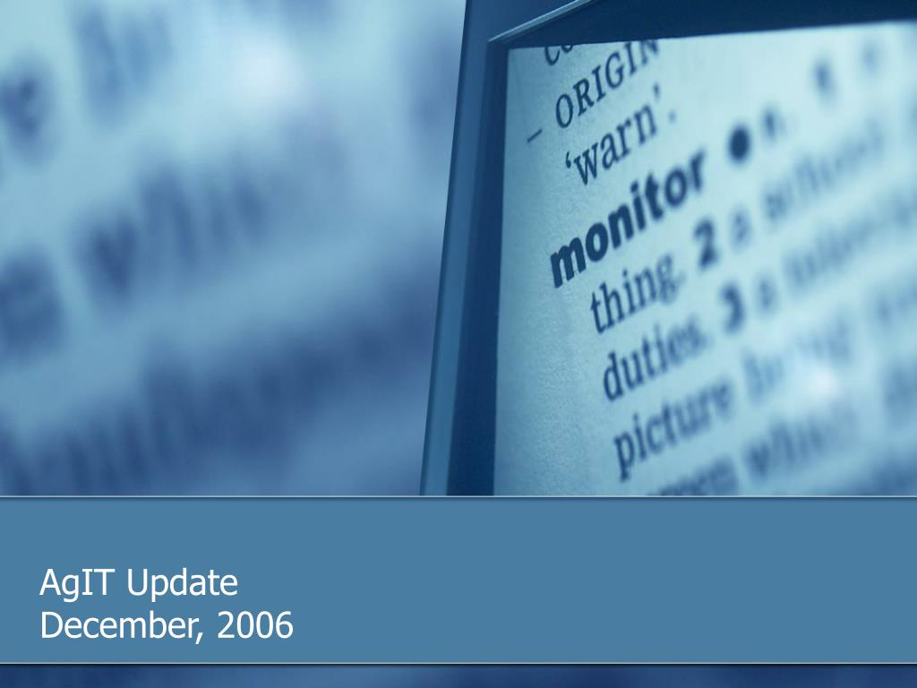 agit update december 2006 l.