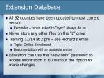 extension database
