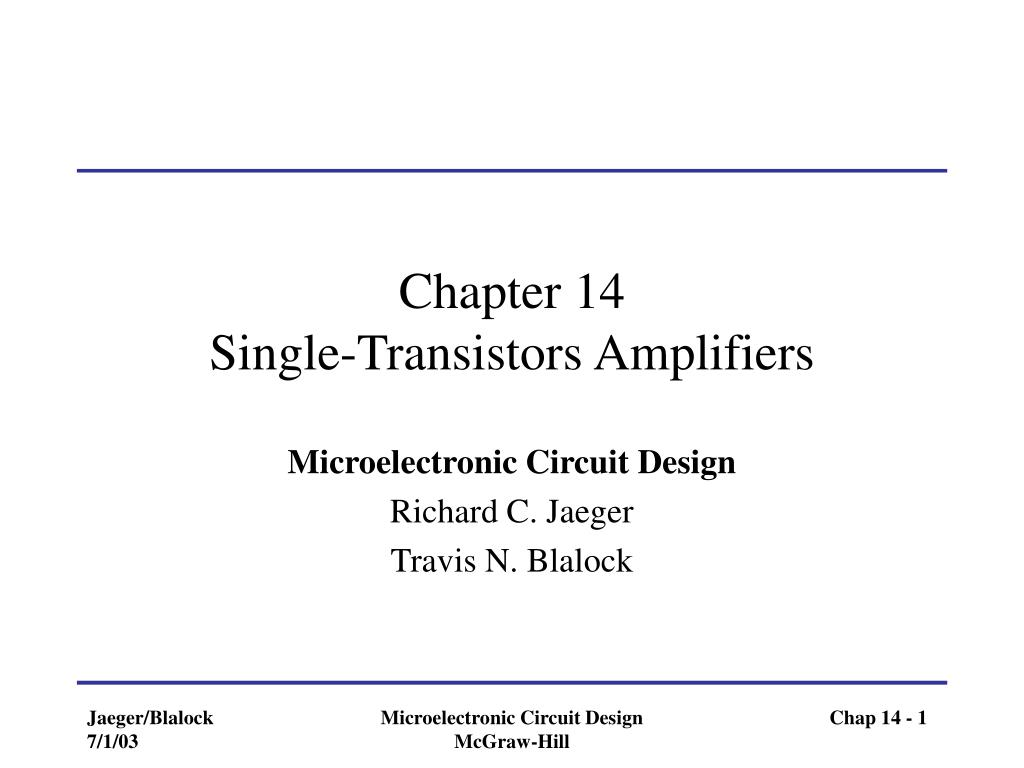 chapter 14 single transistors amplifiers l.