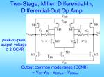 two stage miller differential in differential out op amp