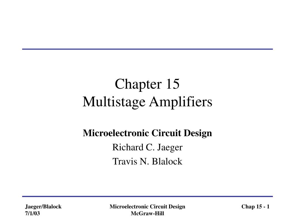 chapter 15 multistage amplifiers l.