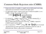 common mode rejection ratio cmrr