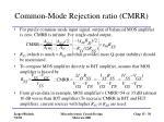 common mode rejection ratio cmrr38