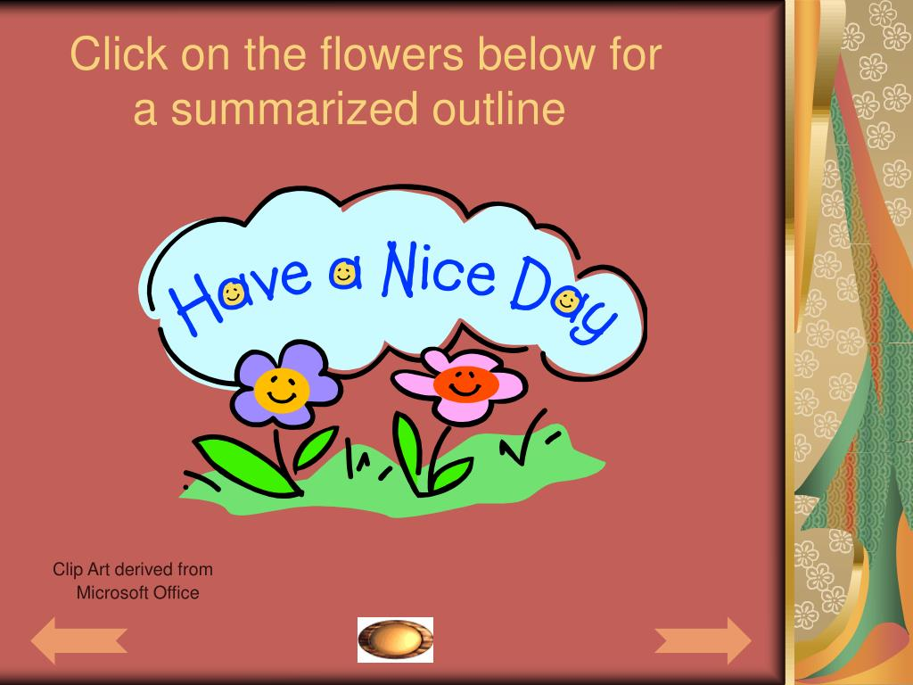 Click on the flowers below for