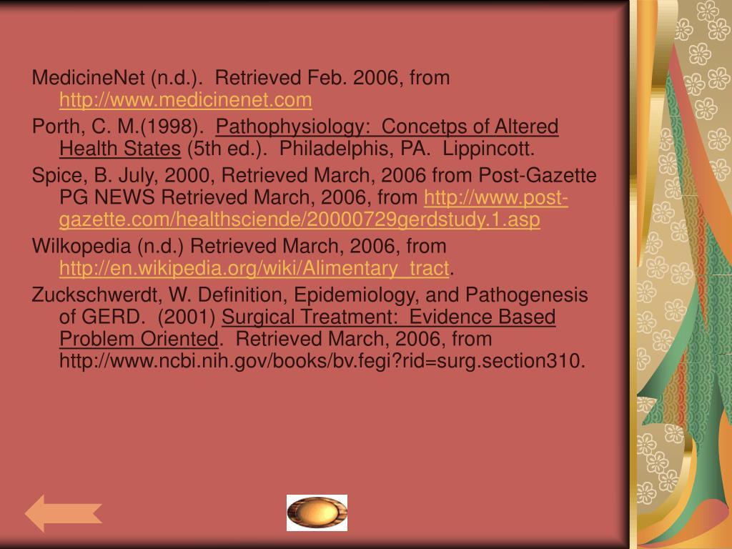 MedicineNet (n.d.).  Retrieved Feb. 2006, from