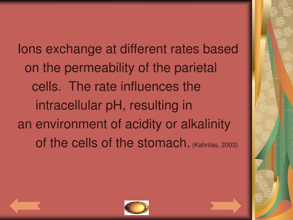 Ions exchange at different rates based