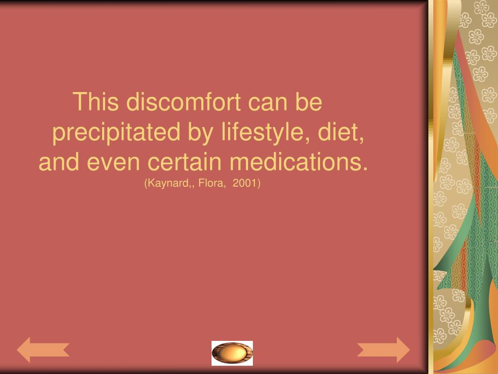 This discomfort can be