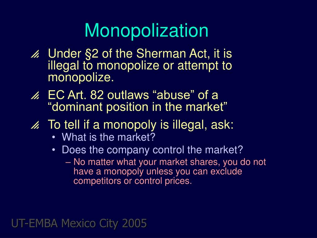 monopolization l.