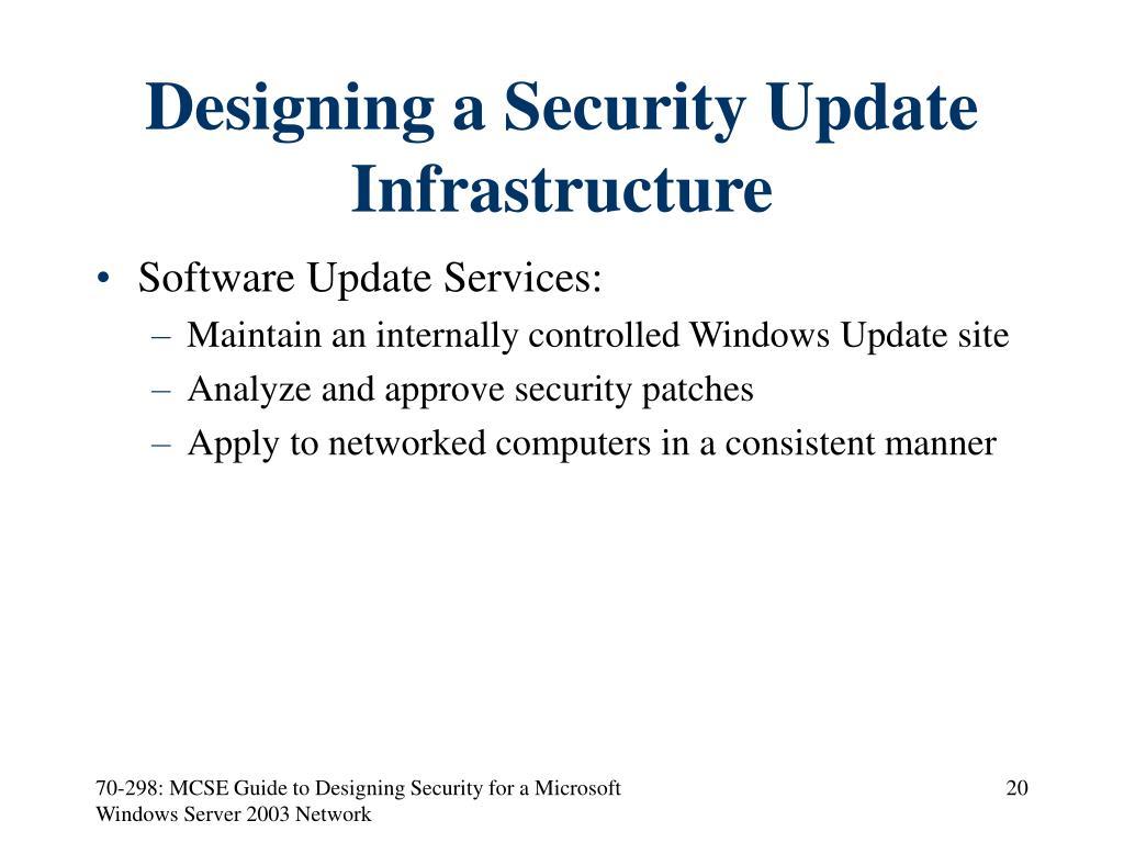 Designing a Security Update