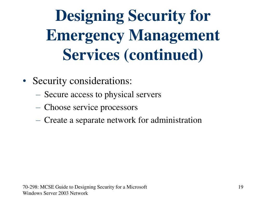 Designing Security for