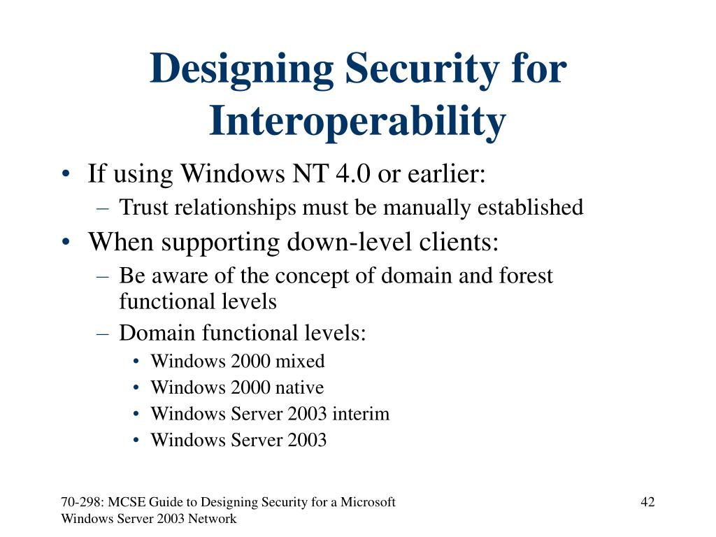 Designing Security for Interoperability