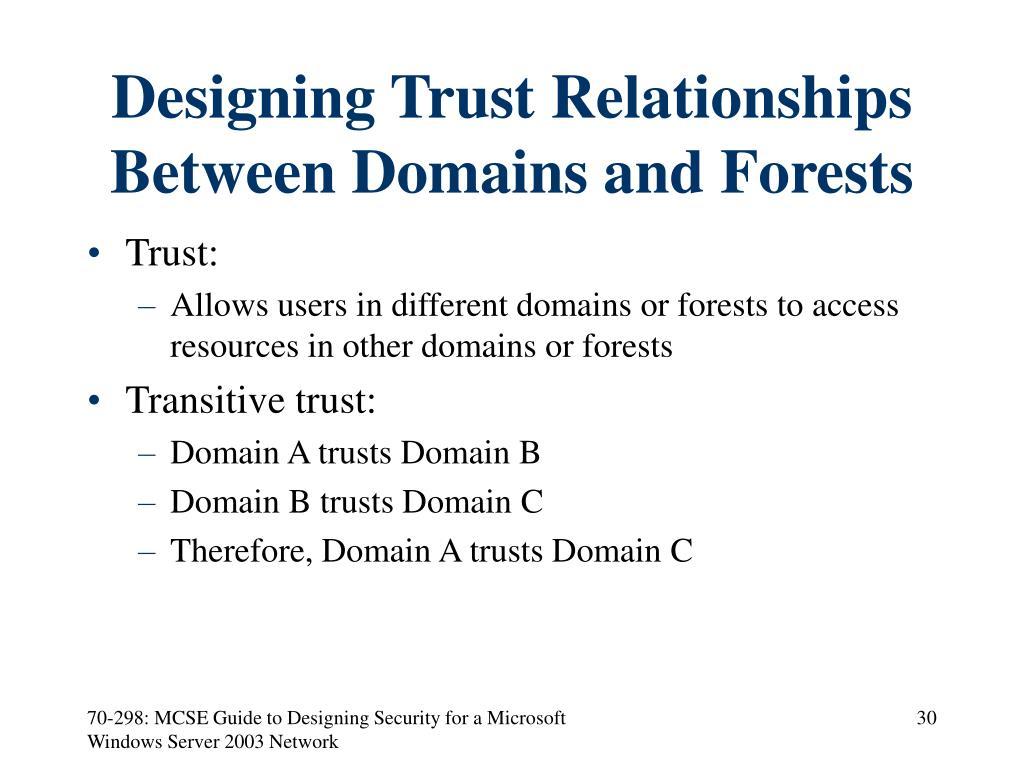 Designing Trust Relationships