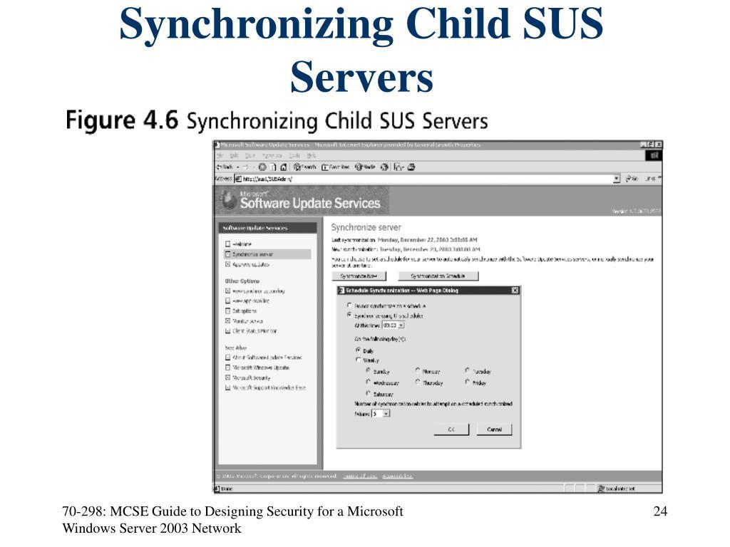 Synchronizing Child SUS Servers
