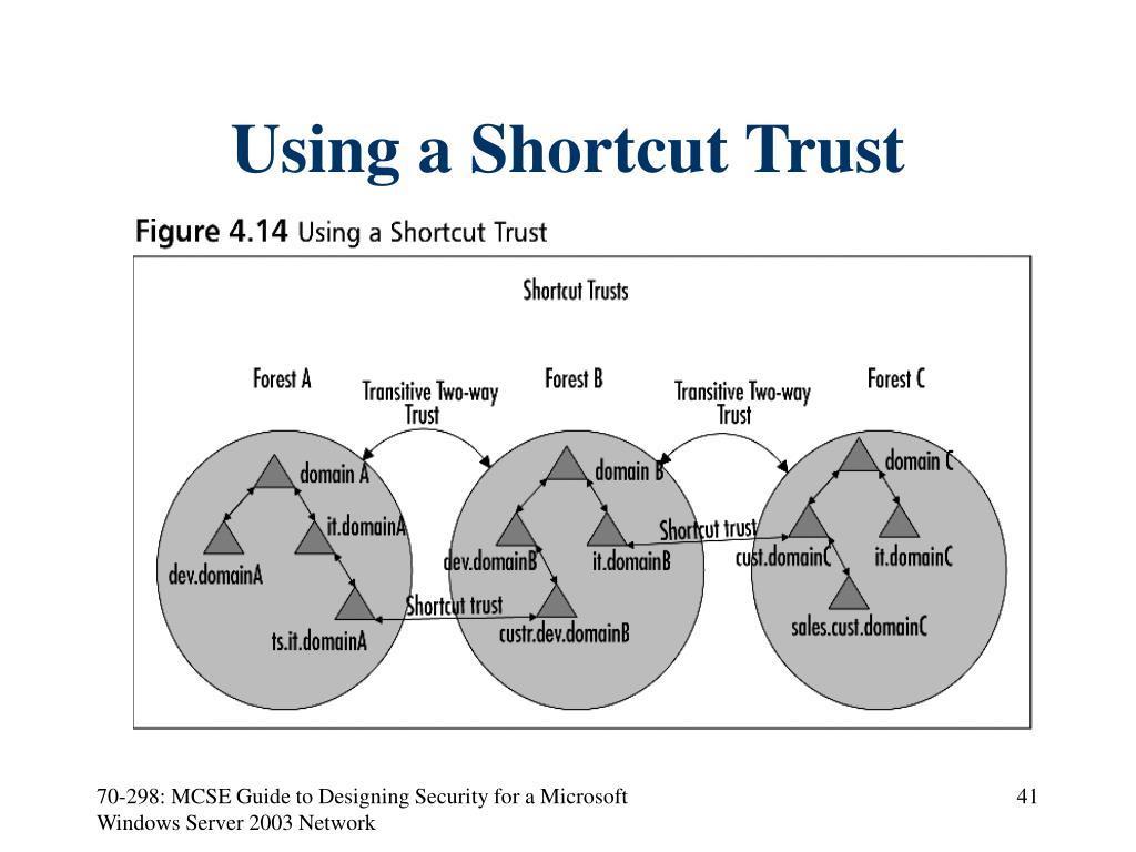 Using a Shortcut Trust