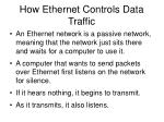 how ethernet controls data traffic