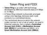 token ring and fddi