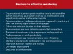 barriers to effective mentoring