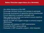 roles first line supervisors i e foremen