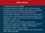 roles mentor