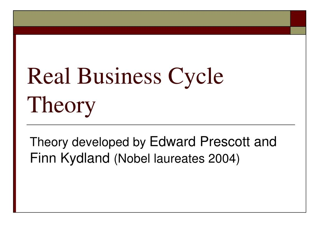 real business cycle theory l.