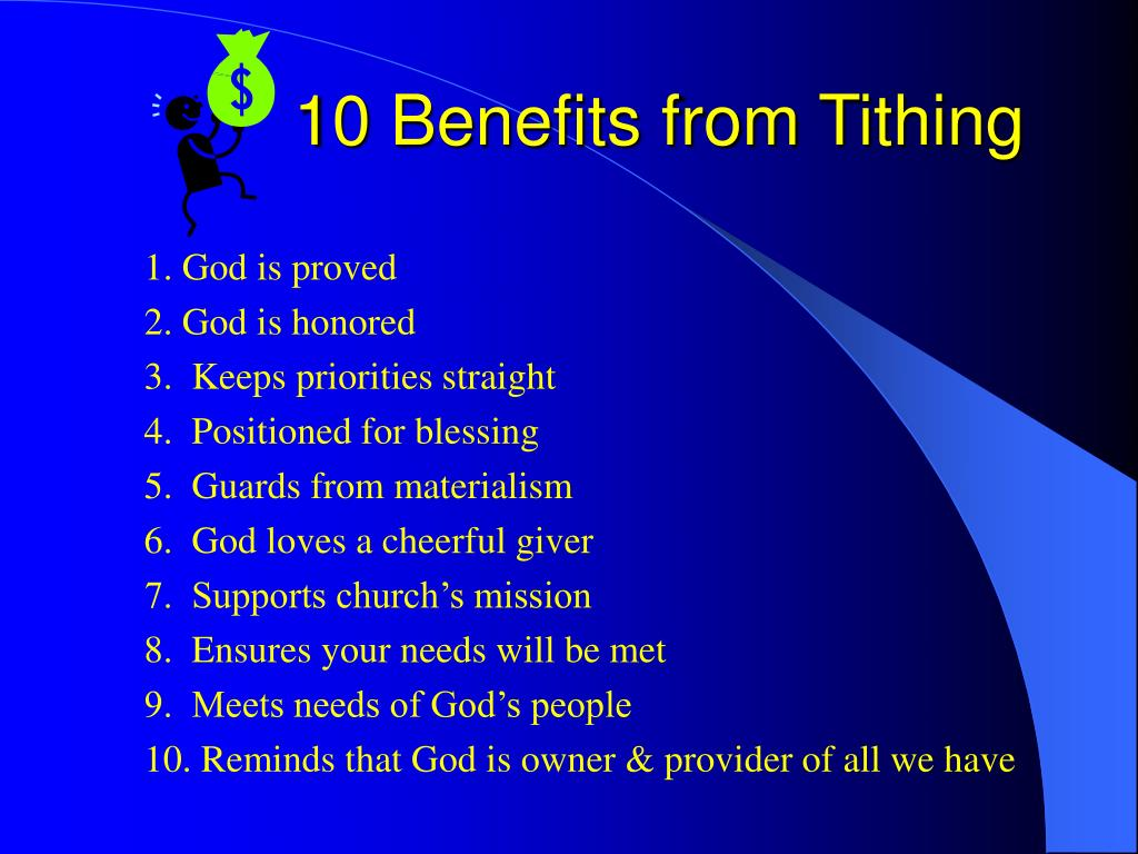 10 benefits from tithing l.