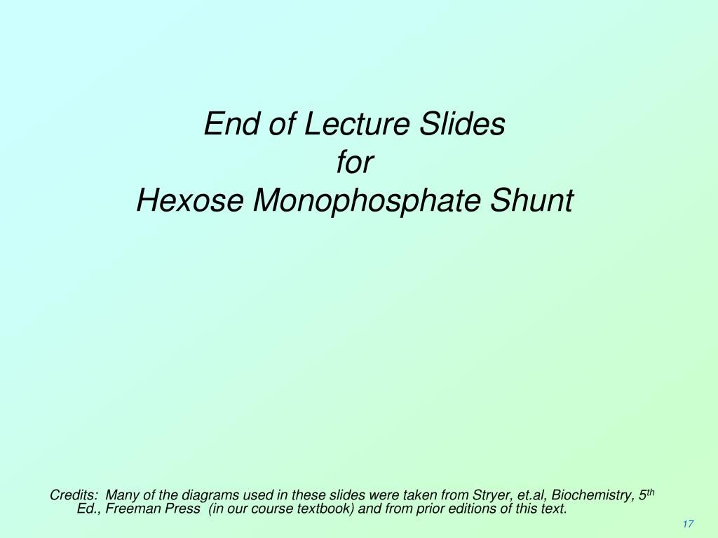 End of Lecture Slides