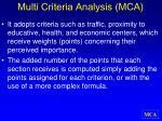 multi criteria analysis mca