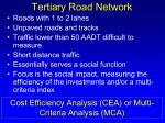 tertiary road network