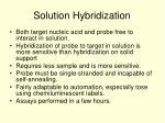 solution hybridization