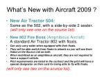 what s new with aircraft 2009