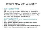 what s new with aircraft