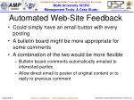 automated web site feedback