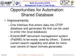 opportunities for automation shared database1