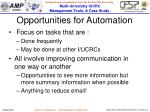opportunities for automation