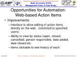 opportunities for automation web based action items1