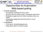 opportunities for automation web based polling