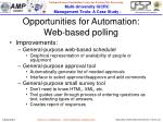 opportunities for automation web based polling1