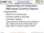 opportunities for automation web based quarterly reports1