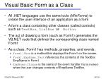 visual basic form as a class