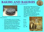 bakers and bakeries occupation and industry