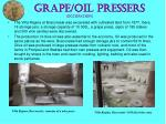 grape oil pressers occupation