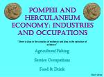 pompeii and herculaneum economy industries and occupations