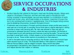 service occupations industries